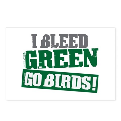 I Bleed Green (Philly) Postcards (Package of 8)