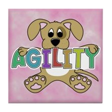 Cute Puppy Agility Tile Coaster