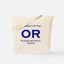 OR Prop Navy Tote Bag