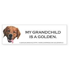 My Grandchild is a Golden Retriever Bumper Sticker