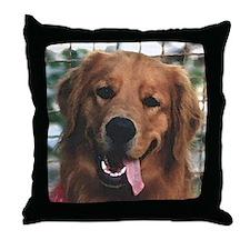Smiling Golden Retriever Throw Pillow