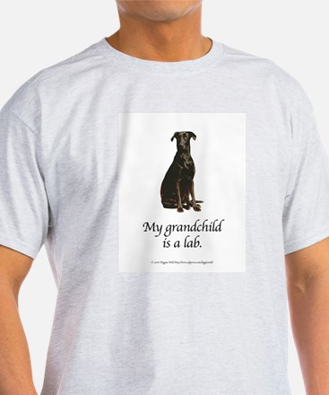 My Grandchild is a Lab Ash Grey T-Shirt