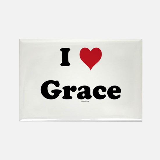 I love Grace Rectangle Magnet