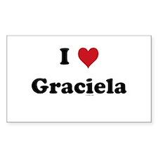 I love Graciela Rectangle Decal