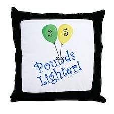 25 Pounds Lighter Throw Pillow