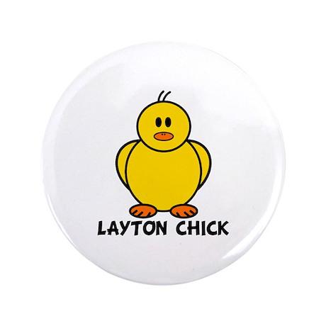 "Layton Chick 3.5"" Button"