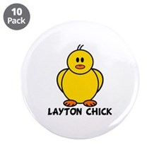 "Layton Chick 3.5"" Button (10 pack)"
