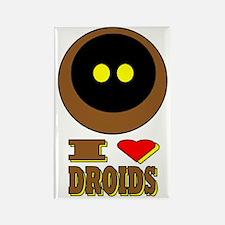 I LOVE DROIDS Rectangle Magnet