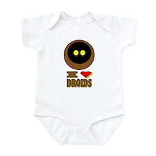 I LOVE DROIDS Infant Bodysuit