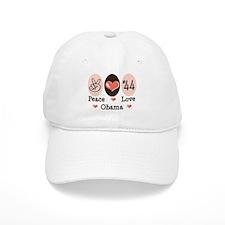 Peace Love 44 Obama Baseball Cap