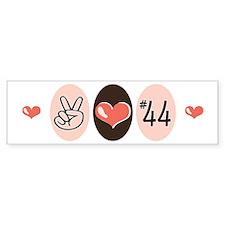 Peace Love 44 Obama Bumper Bumper Sticker