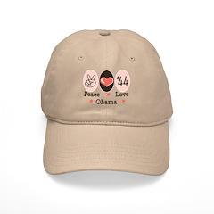 Peace Love 44 Obama Cap