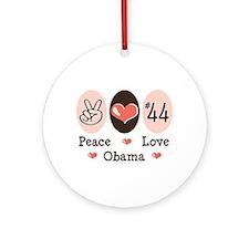 Peace Love 44 Obama Ornament (Round)