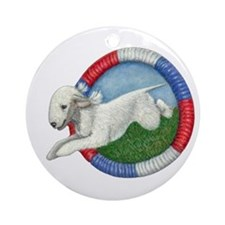Agility Bedlington Ornament (Round)