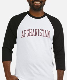 Afghanistan Red Baseball Jersey
