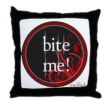 Twilight Bite Me Throw Pillow