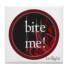 Twilight Bite Me Tile Coaster