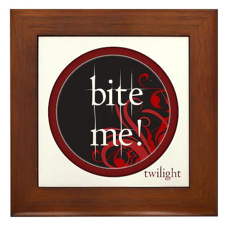 Twilight Bite Me Framed Tile