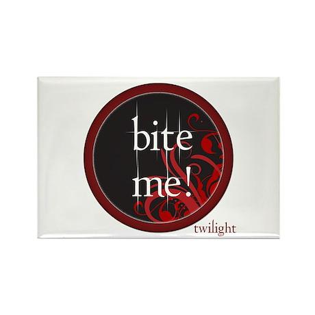 Twilight Bite Me Rectangle Magnet (100 pack)
