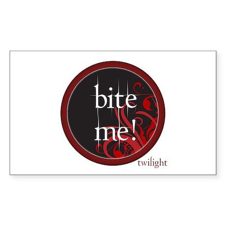 Twilight Bite Me Rectangle Sticker