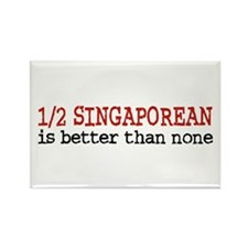 Half Singaporean Rectangle Magnet