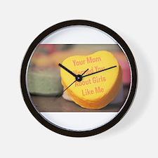 Mom Warned You (Girl) Wall Clock