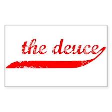 The Deuce!!! Rectangle Decal