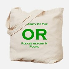 OR Prop green Tote Bag