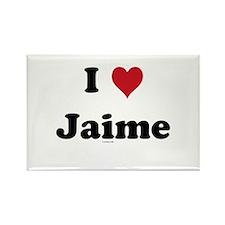 I love Jaime Rectangle Magnet