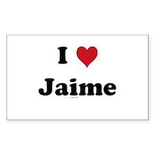 I love Jaime Rectangle Decal