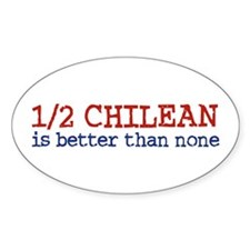Half Chilean Oval Decal