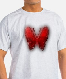 """""""ButterFly1 Faded Red"""" T-Shirt"""
