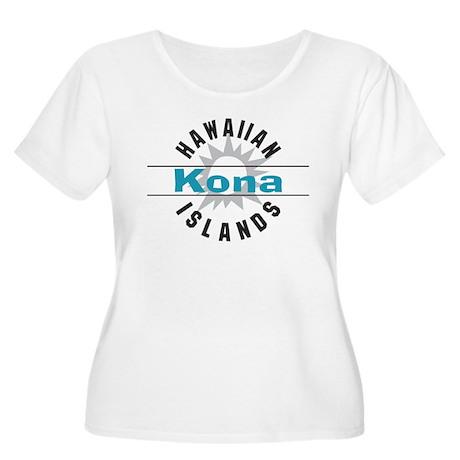 Kona Hawaii Women's Plus Size Scoop Neck T-Shirt