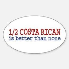 Half Costa Rican Oval Decal