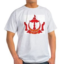 Brunei Coat Of Arms Ash Grey T-Shirt