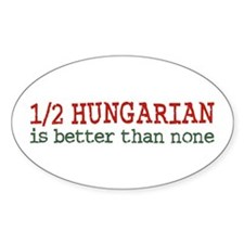 Half Hungarian Oval Decal