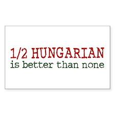 Half Hungarian Rectangle Sticker 10 pk)
