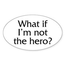 Twilight Edward Hero Quote Oval Decal