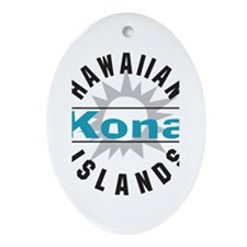 Kona Hawaii Oval Ornament