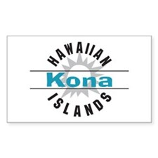 Kona Hawaii Rectangle Decal