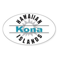Kona Hawaii Oval Decal