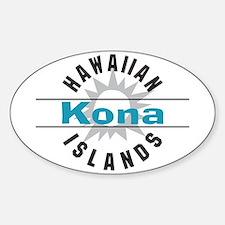 Kona Hawaii Oval Decal