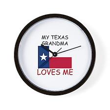 My Texas Grandma Loves Me Wall Clock