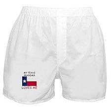 My Texas Grandma Loves Me Boxer Shorts