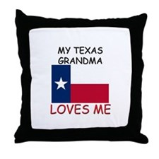 My Texas Grandma Loves Me Throw Pillow