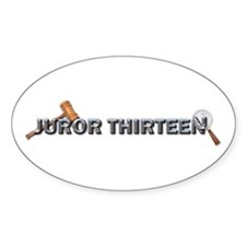 Jurorthirteen Oval Decal