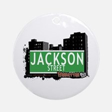 JACKSON STREET, MANHATTAN, NYC Ornament (Round)