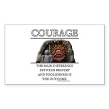 Courage Rectangle Decal