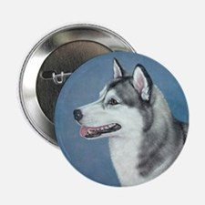 "Siberian Husky 2.25"" Button"
