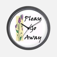 Please Go Away Wall Clock